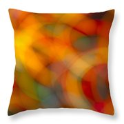 Circular Flow Christmas Abstract Throw Pillow