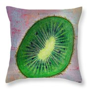 Circular Food - Kiwi Throw Pillow