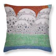 Circular Landscape Throw Pillow