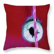 Circular Rojo Throw Pillow