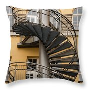 Circular Staircase Throw Pillow
