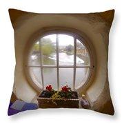 Circular Window Throw Pillow