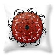 Circularium No. 2556 Throw Pillow