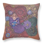 Circulo Mother And Child Throw Pillow