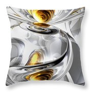 Circumvoluted Abstract Throw Pillow
