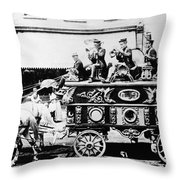 Circus Bandwagon, 1900 Throw Pillow