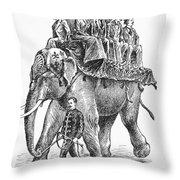 Circus: Elephant, C1901 Throw Pillow