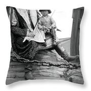 Circus Giant And Harry Doll Throw Pillow