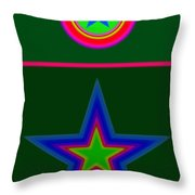 Circus Green Throw Pillow