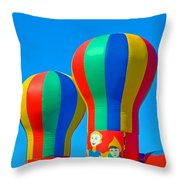 Circus In The Sky - Three Throw Pillow