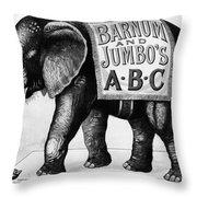 Circus: Jumbo, C1882 Throw Pillow