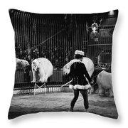 Circus: Polar Bears Throw Pillow