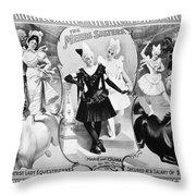 Circus Poster, 1895 Throw Pillow