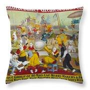 Circus Poster, 1903 Throw Pillow