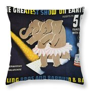 Circus Poster, 1942 Throw Pillow