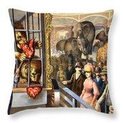 Circus Poster, C1891 Throw Pillow