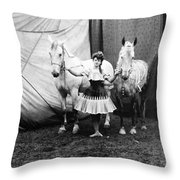 Circus: Rider, C1904 Throw Pillow