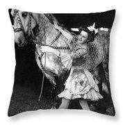 Circus: Rider, C1908 Throw Pillow