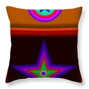 Circus Star Throw Pillow