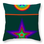 Circus Vert Throw Pillow