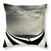 Circus With Distant Ships Throw Pillow