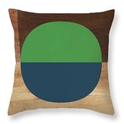 Cirkel Blue And Green- Art By Linda Woods Throw Pillow
