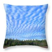 Cirrocumulus Clouds Over Mt. Mclaughlin Throw Pillow