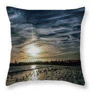 Cirrus Clouds Throw Pillow