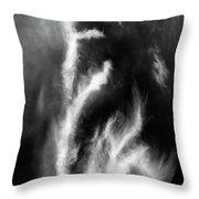 Cirrus Clouds Nature Patterns Throw Pillow