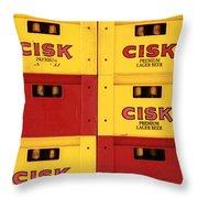 Cisk Larger Beer Throw Pillow