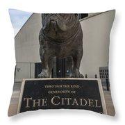 Citadel Bulldog Throw Pillow