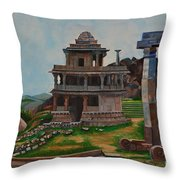 Cithradurga Fort Throw Pillow
