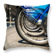 Citibike Manhattan Throw Pillow