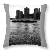 Cities And Rivers Ny1 Throw Pillow