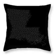 Cities And Towns In Louisiana White Throw Pillow