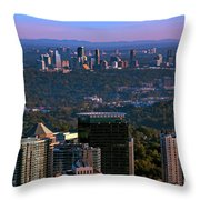 Cities Of Atlanta Throw Pillow