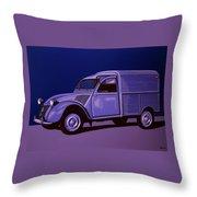 Citroen 2cv Azu 1957 Painting Throw Pillow