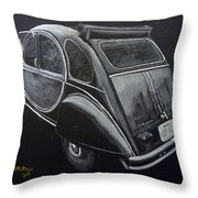 Citroen 2cv Charleston Throw Pillow