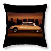 Citroen Ds 1955 Painting Throw Pillow