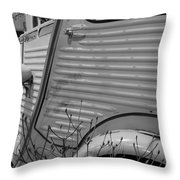 Citroen H Van In Mono Study 1 Throw Pillow