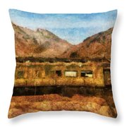 City - Arizona - Desert Train Throw Pillow