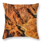 City - Arizona - Grand Canyon - A Look Into The Abyss Throw Pillow