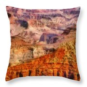 City - Arizona - Grand Canyon - Kabob Trail Throw Pillow