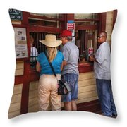 City - Lancaster Pa - The Train Station Throw Pillow