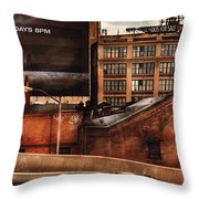 City - Ny - New York History Throw Pillow