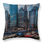 City - Ny - The New City Throw Pillow