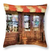 City - Ny 77 Water Street - Candy Store Throw Pillow