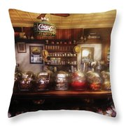 City - Ny 77 Water Street - The Candy Store Throw Pillow