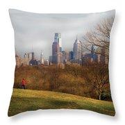 City - Philadelphia Pa  - The City Of Philadelphia  Throw Pillow