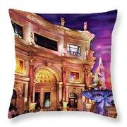 City - Vegas - Mirage - The Entrance Throw Pillow